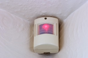 Alarm systems with motion detectors
