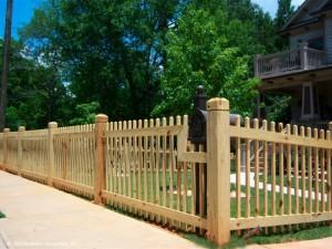 Om trä staketet