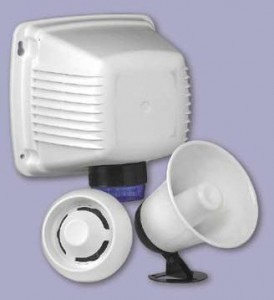 Sirens for alarm systems