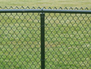 Decorating a chain link fence