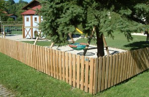 Building a post and plank fence