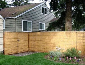 Installing a bamboo reed fence