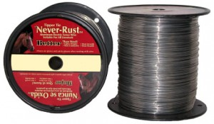 Stringing wire for electric fence
