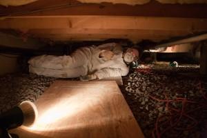 Die Installation eines crawlspace dampfsperre