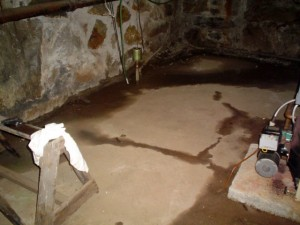 Basement leak repairs