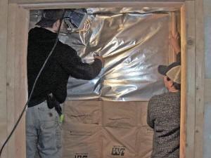 Hojas de conexión de barrera de vapor