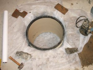 Making a sump pump pit