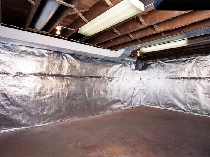 radiant heat barrier vapor barrier wall