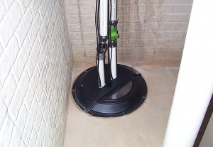How to install a water powered sump pump
