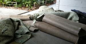 Secado de alfombras sótano
