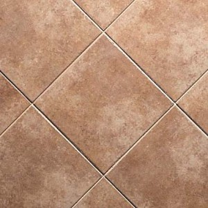Bathroom flooring with ceramic tiles