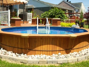 Pool, Ways to straighten the ground for an above ground pool