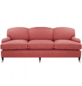 Rounded arms sofa styles