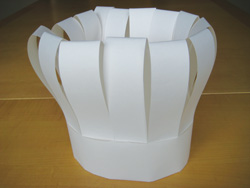 Use paper to make a chef hat