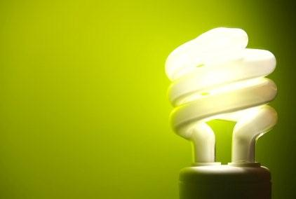 Save energy with fluorescent light bulbs