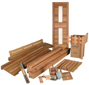 Building a sauna with a sauna kit