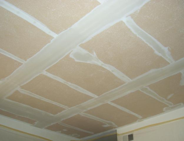 Fixing a plaster ceiling