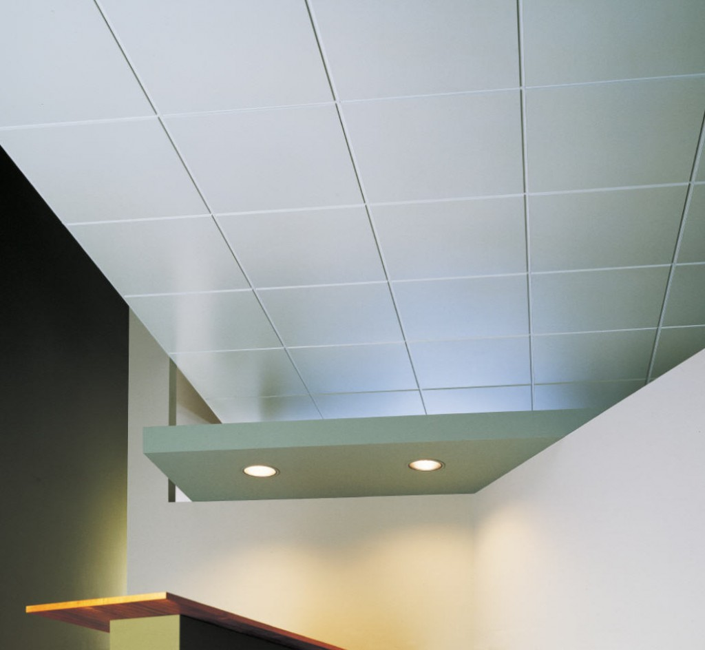 Installing acoustic ceiling tiles
