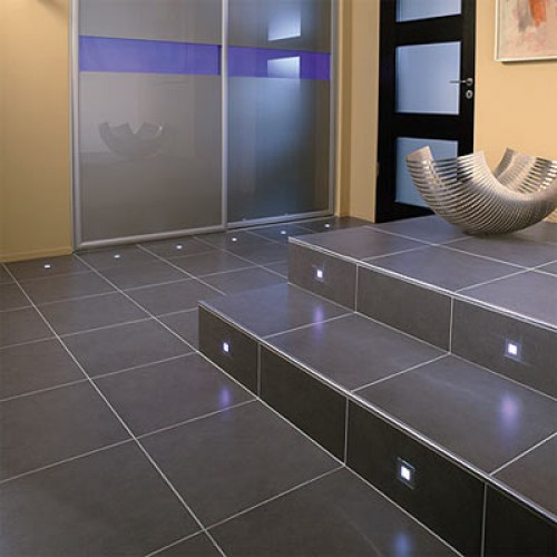 Installing bathroom floor tiles
