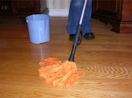 Remove wax from hardwood floor