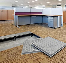 Coverings for raised flooring