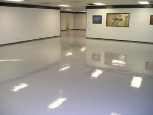 Cleaning garage floors