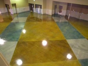 Stained concrete in Park Ridge, Il. Aardvark Painting Inc.
