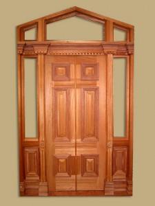 Bir kapı çerçevesi tesviye