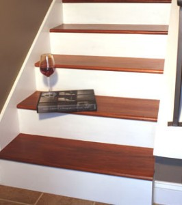 How to install wooden stair treds