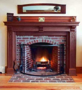 Stone vs brick fireplace