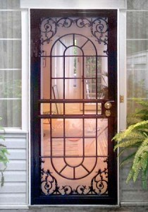 How to paint a metal screen door