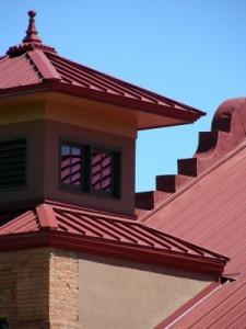Alumínio pintura do telhado