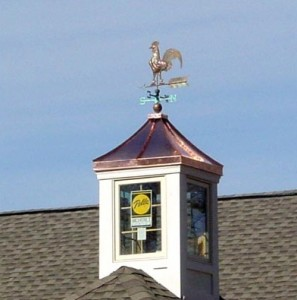 Wood and copper cupolas