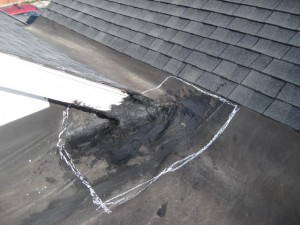 Patching a leaky flat roof