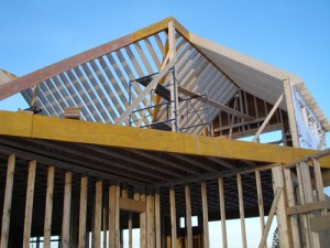 Cutting a roof rafter