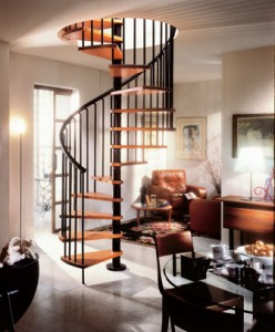 Installing a spiral staircase kit