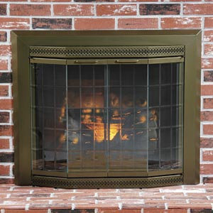 About antique brass fireplaces