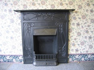 About antique iron fireplaces