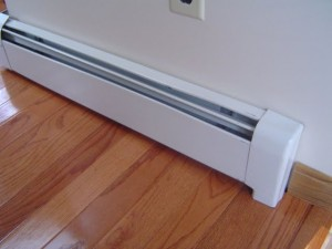 Hot water baseboard heaters