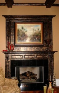 About antique copper fireplaces