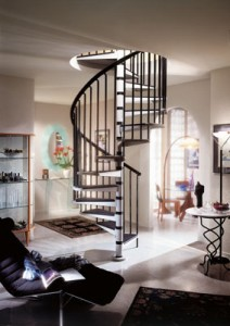 Metal vs wooden spiral staircase