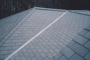 Rubber vs real roof slates