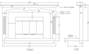 Making plans for a fireplace mantel