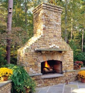 Mantels for outdoor fireplaces