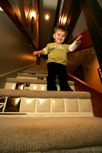 Child proofing a staircase