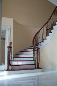 Staircase conversion: From straight to curved