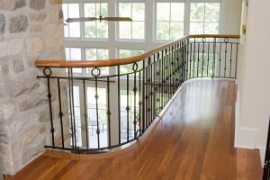 How to replace a baluster with a wrought iron railing