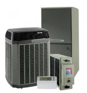 Air conditioners with heating systems