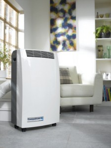 Portable air condition enheter