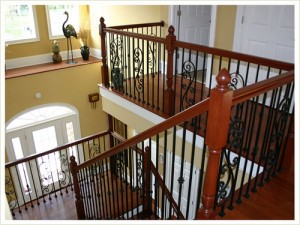 Installing iron staircase balusters